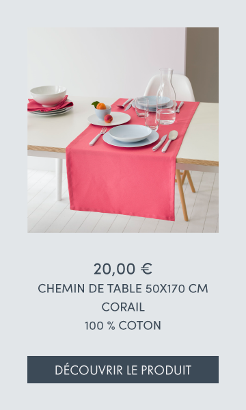 CHEMIN DE TABLE CORAIL