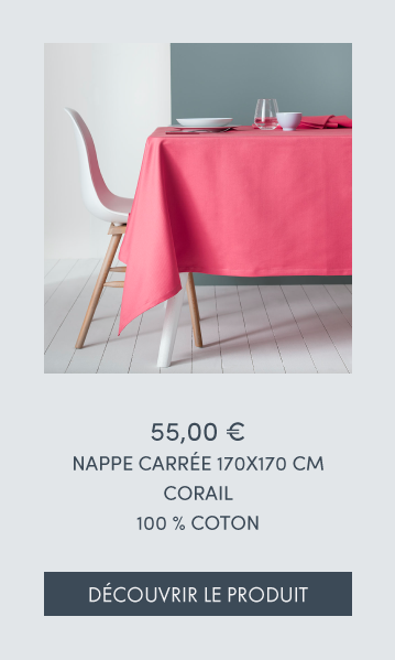 NAPPE CARREE CORAIL