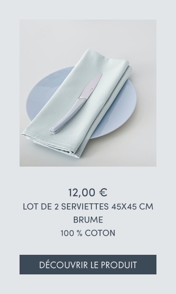 LOT DE 2 SERVIETTES - BRUME
